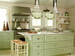 Green and White Kitchen Ideas To Freshen Up Your Kitchen. When your kitchen gets a bit stale, find some great ideas on how to freshen it up with the color green.