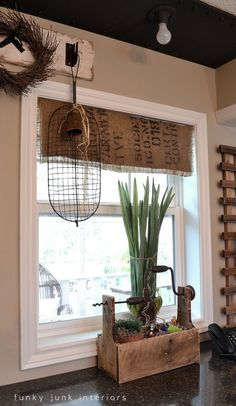 kitchen burlap valance