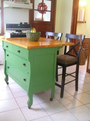 How To Make A DIY Kitchen Island Out Of A Dresser?