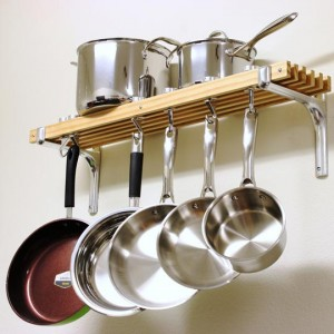 Bookshelf Racks to Hang Your Pots and Pans