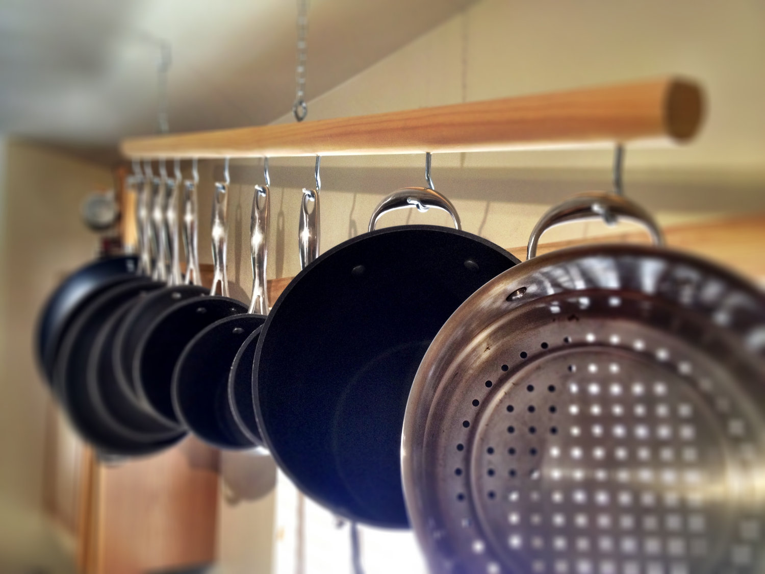 Ceiling Bar Racks For Hanging Your Pots And Pans