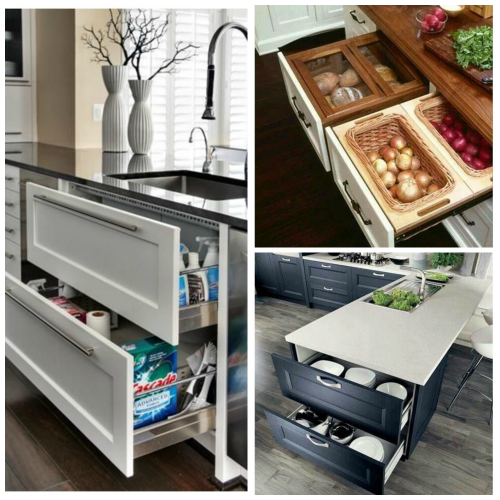 Super Clever Kitchen Storage Ideas For Adding Drawers
