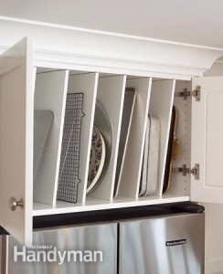 Super Clever Kitchen Storage Ideas for Baking Pans