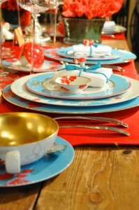 Beautiful Teal Placesetting