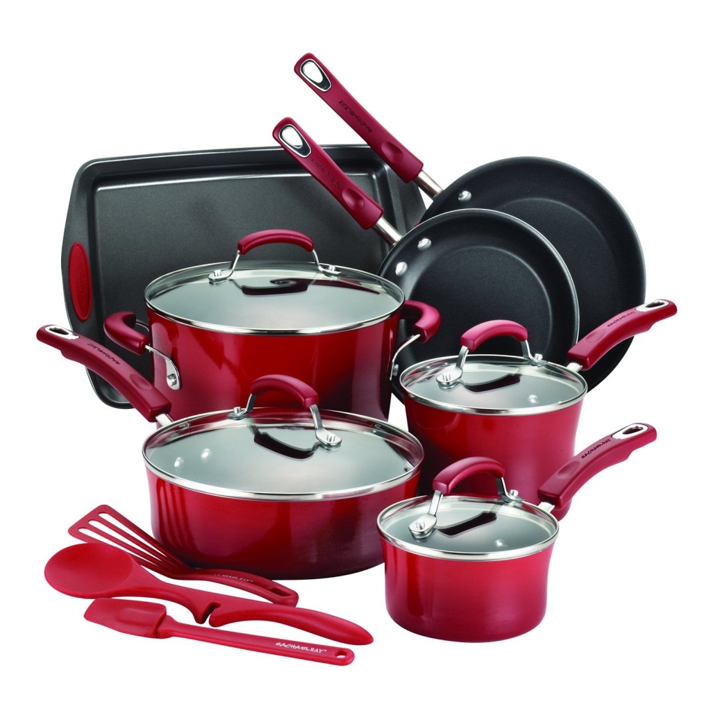Rachael Ray Pots and Pans Set in Red