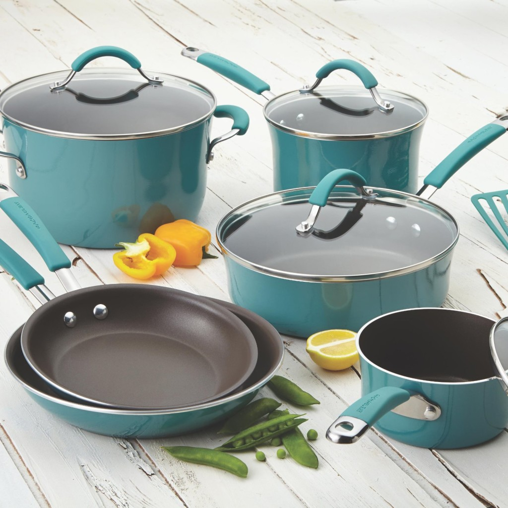Rachael Rays Pots and Pans Set - Agave Blue