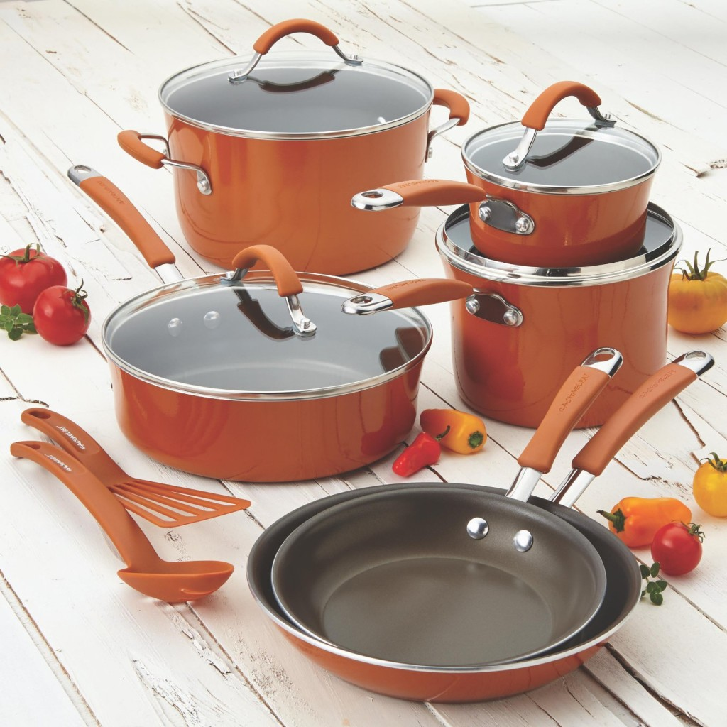 Rachael Ray Pots and Pans Sets - Pumpkin Orange
