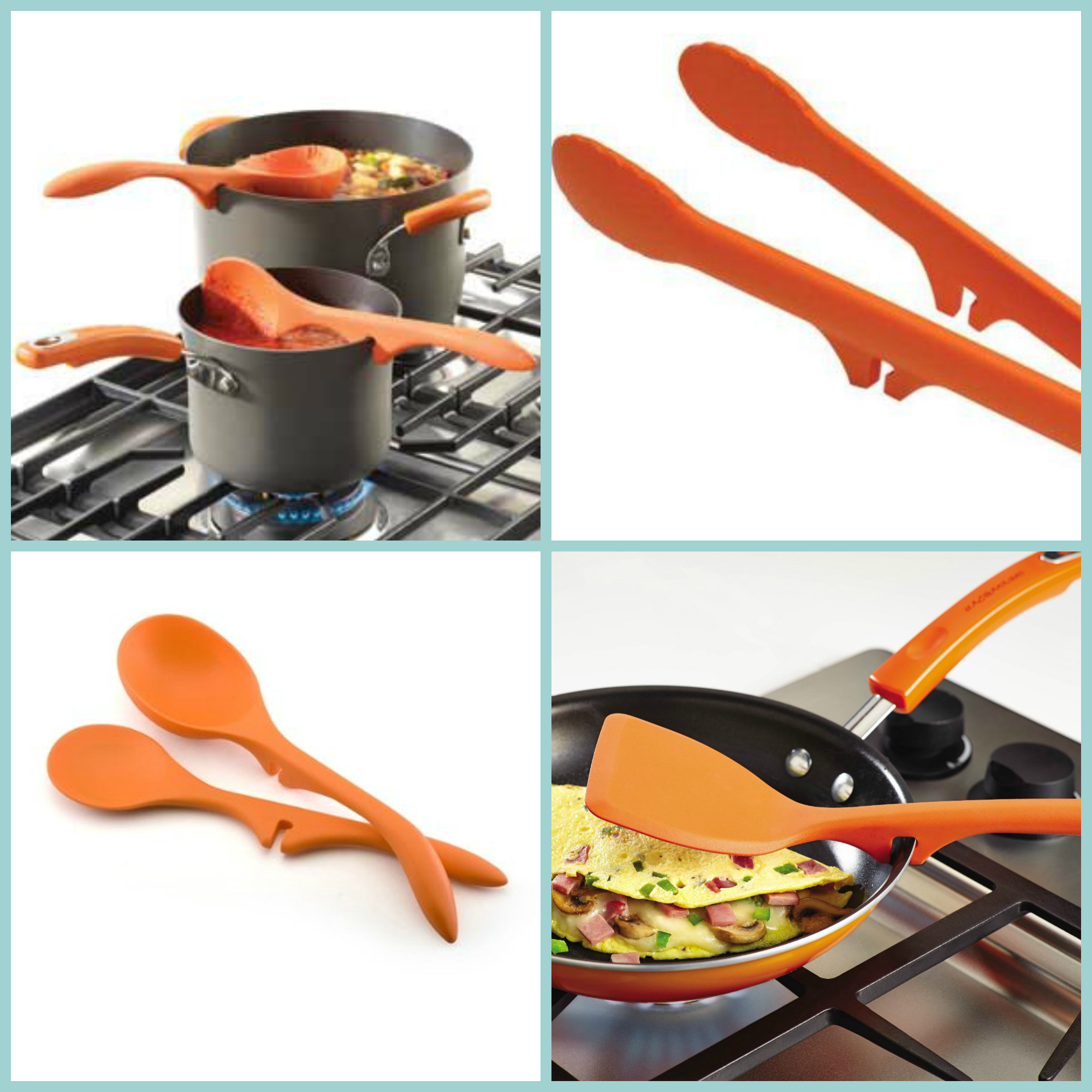 Rachael Ray Cookware Utensils Lazy Spoon Lazy Ladle Set 2