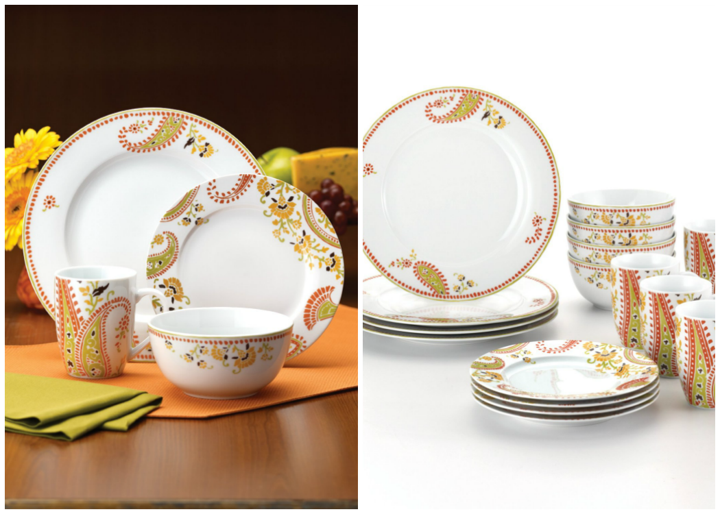 Rachael Ray Dinner Set Paisley