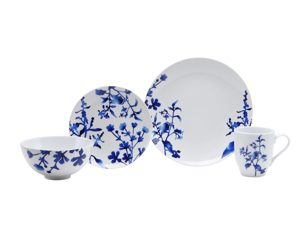 cobalt blue dinnerware set  sc 1 st  Simply Beautiful Kitchens : blue and white plate set - pezcame.com