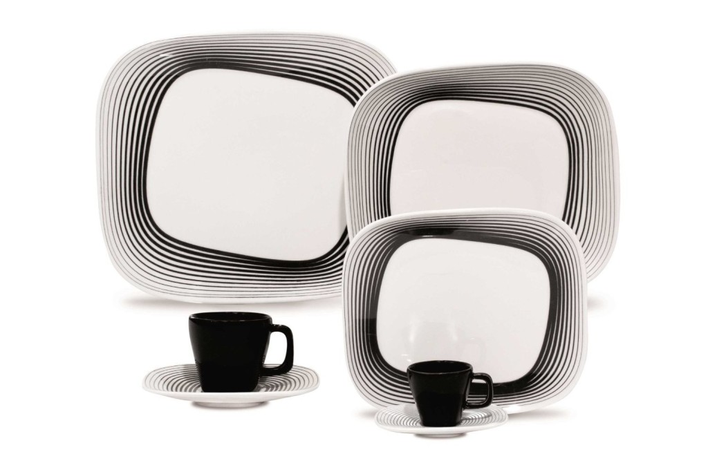 black white dinnerware sets