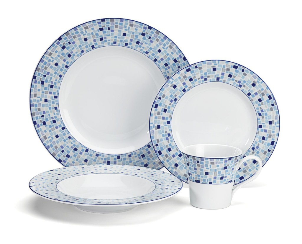 light blue dish sets