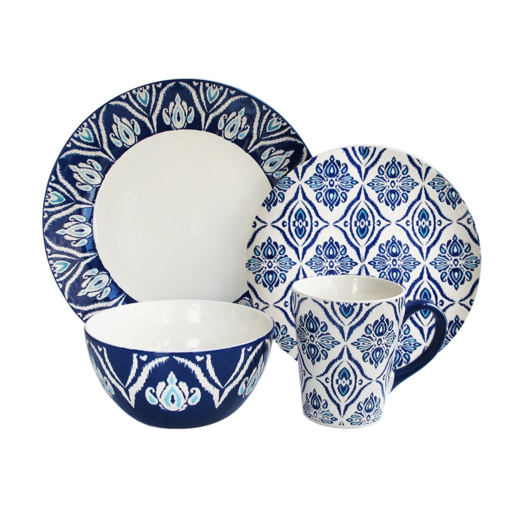 blue white dinnerware set  sc 1 st  Simply Beautiful Kitchens : blue and white plate set - pezcame.com