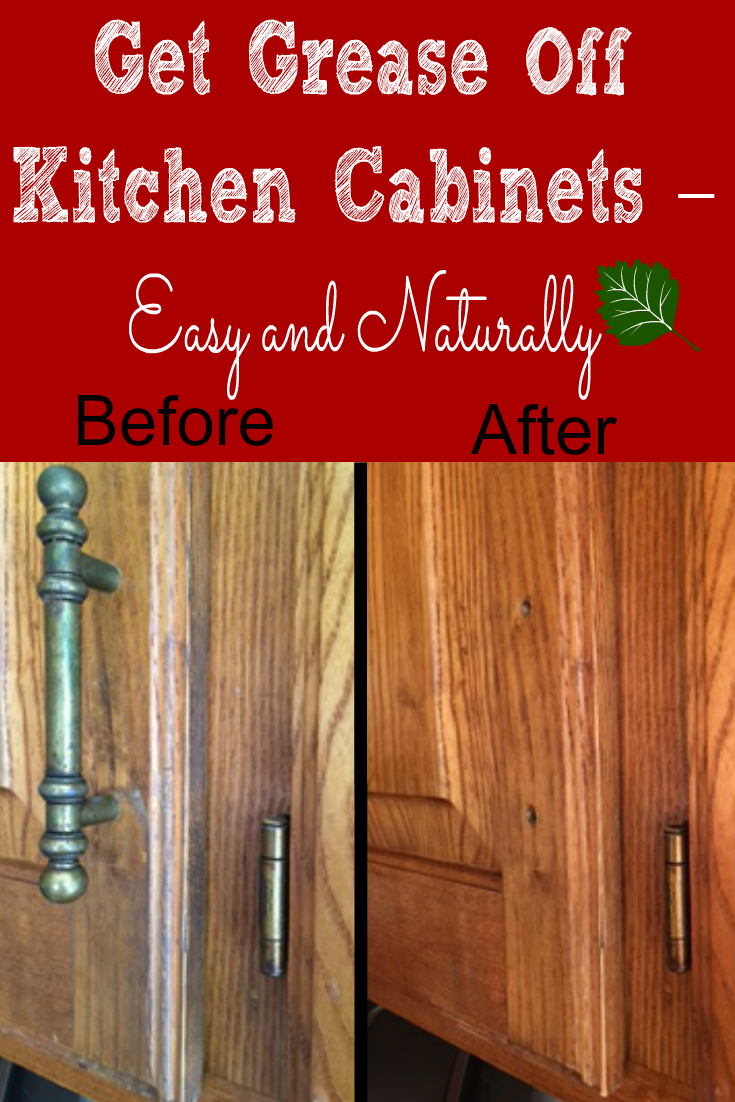 Best Way To Clean Grease Off Kitchen Cabinets   Before And After   WOW!