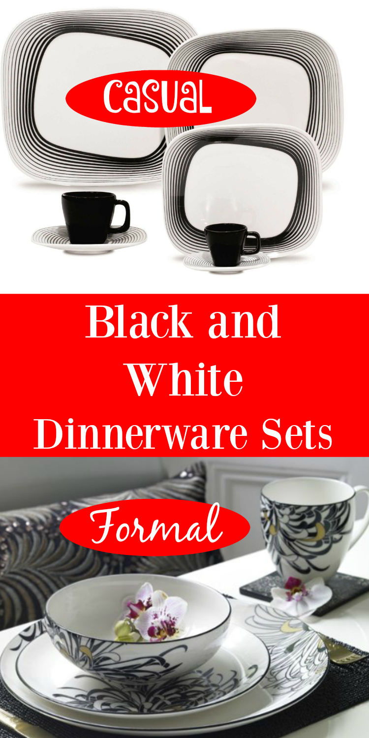 Black White Dinnerware Sets PIN