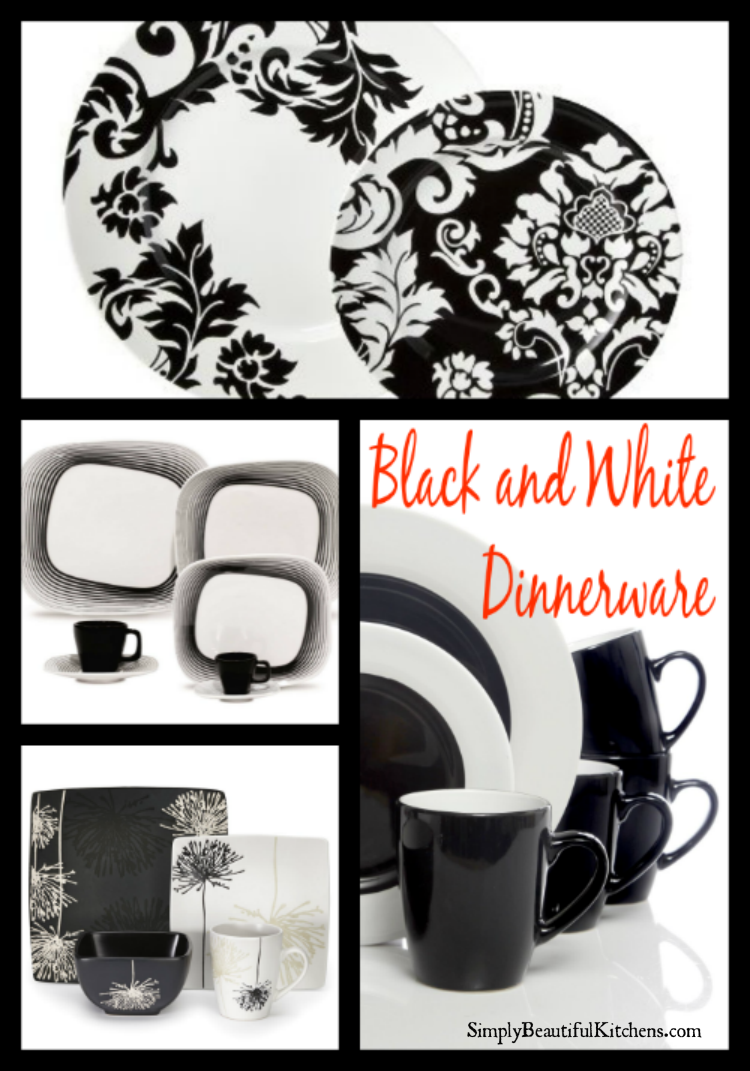 Black and White Dinnerware Sets PIN