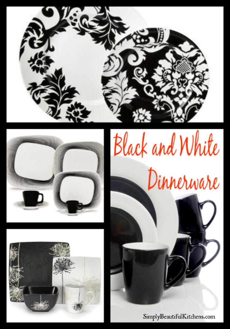 Black and White Dinnerware Sets PIN