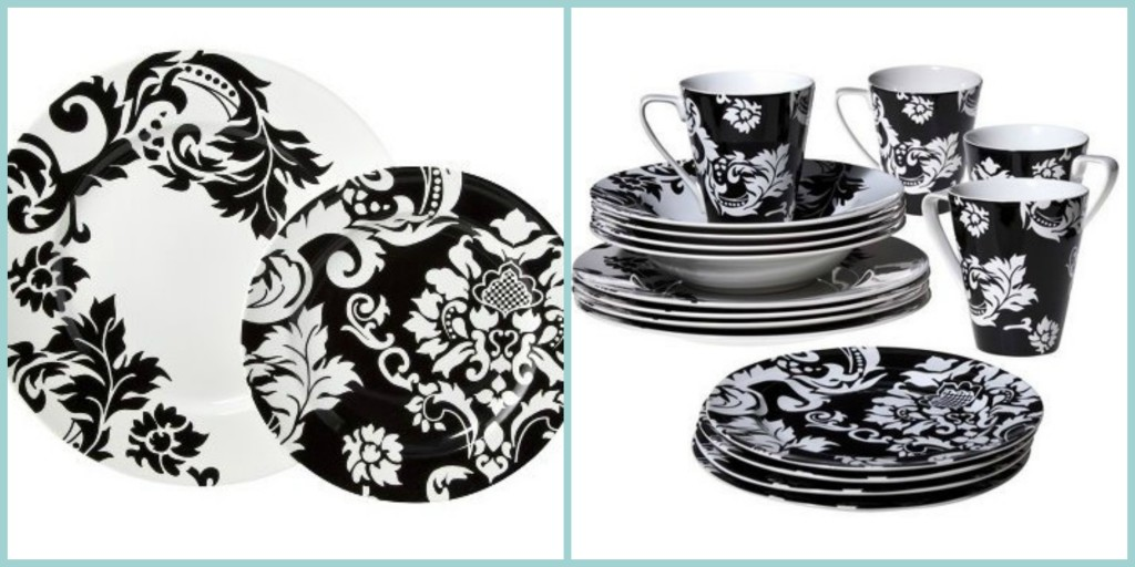 black and white dish sets
