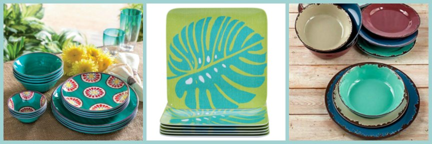 Melamine Outdoor Dinnerware Set