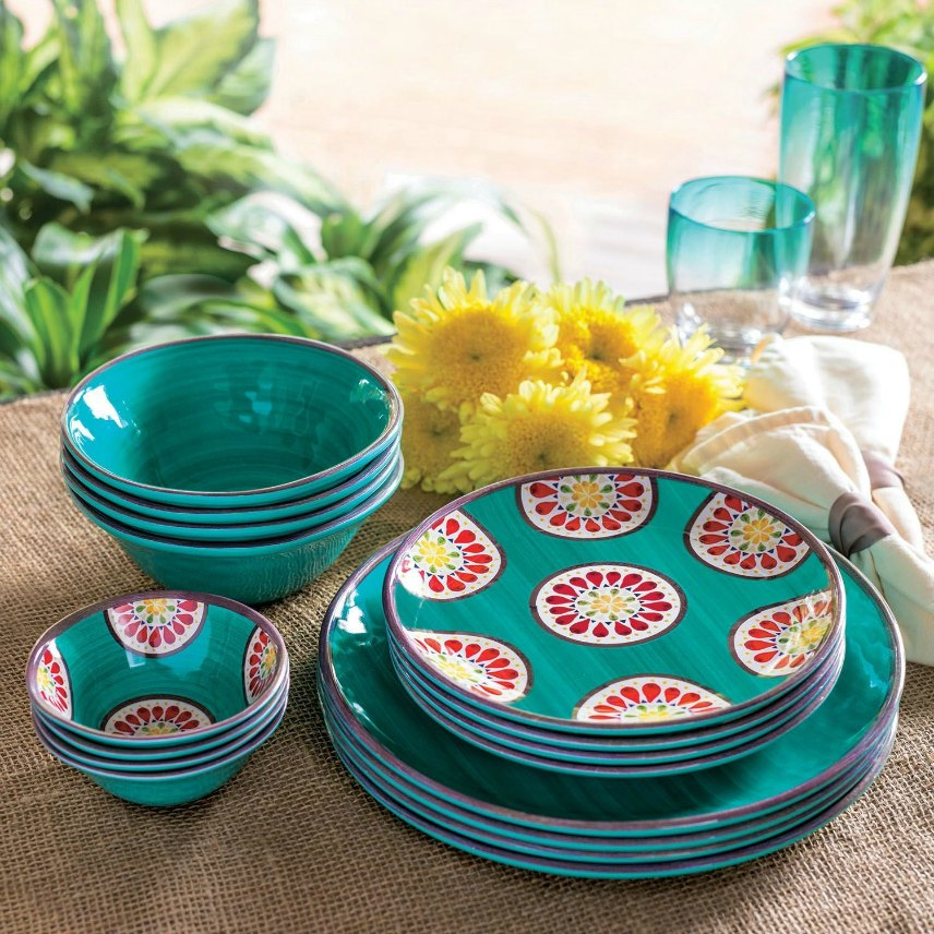 Melamine Dishes Dinnerware Sets