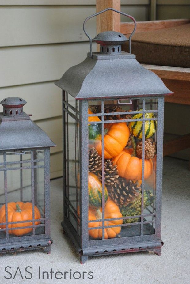 Fall Kitchen Lantern Idea