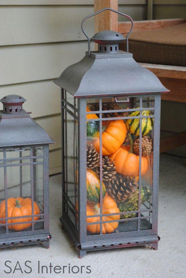 Fall Kitchen Lantern Idea