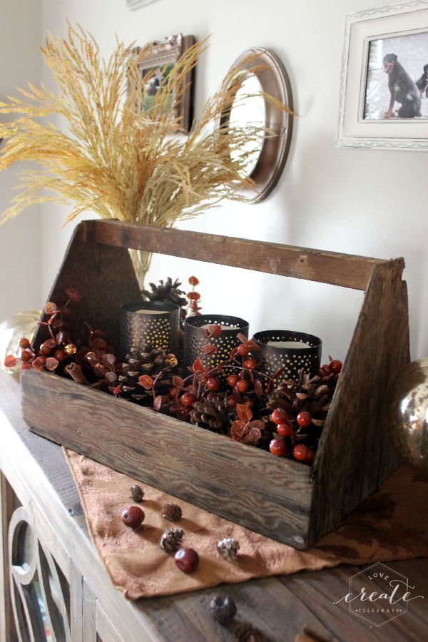 Toolbox Fall Candle Decor