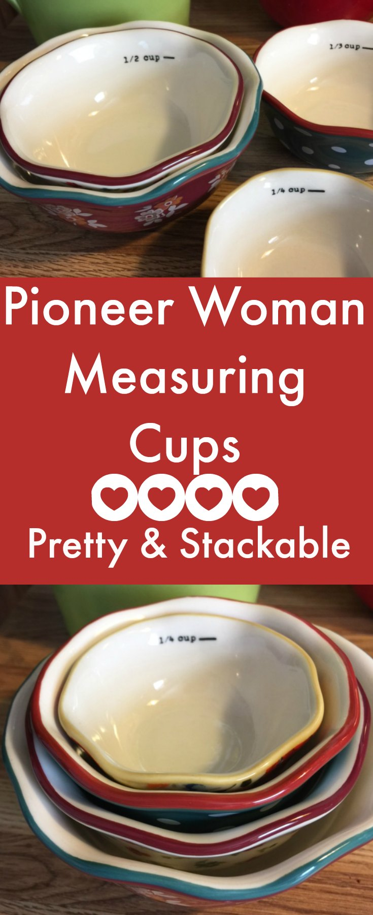 Pioneer Woman Measuring Cups Set