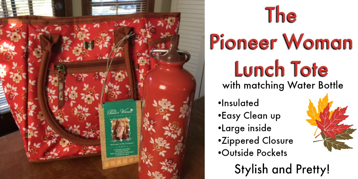 The Pioneer Woman Lunch Tote Large Insulated Lunch Totes