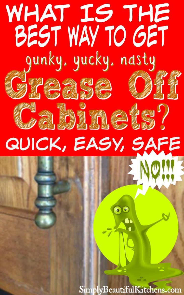 Get grease off kitchen cabinets easy and naturally for Best way to clean painted kitchen cabinets