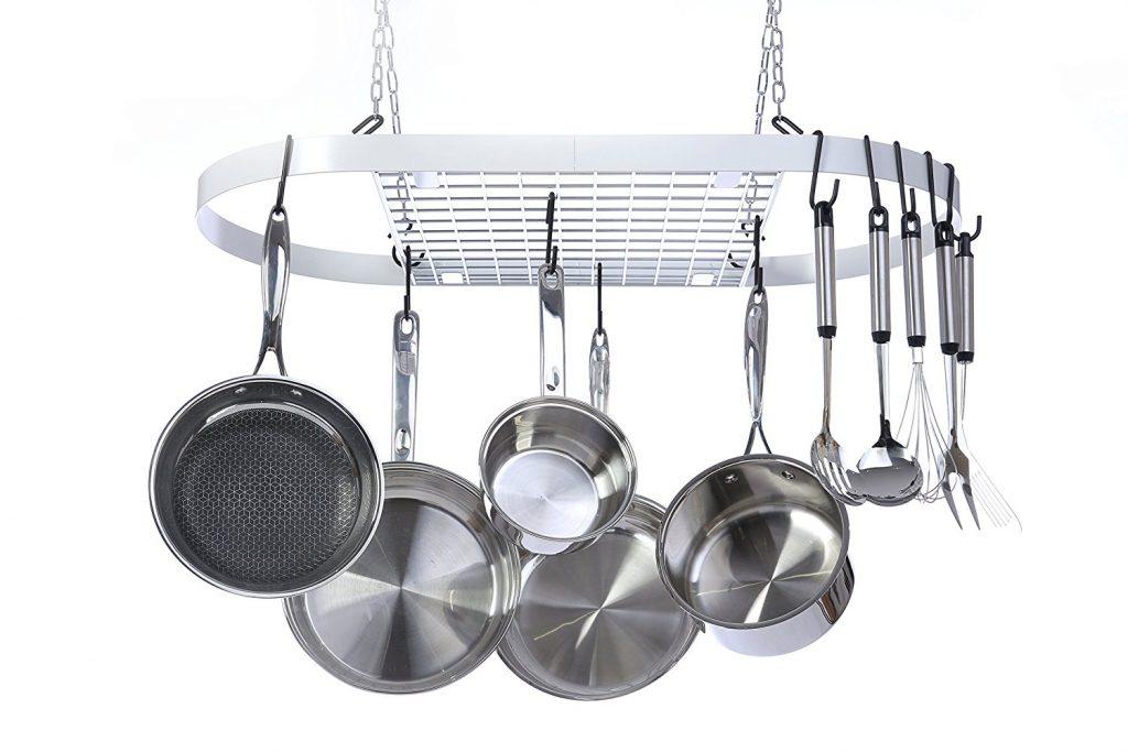 Pot racks shop for quality premium hanging pot racks for Overhead pots and pans rack