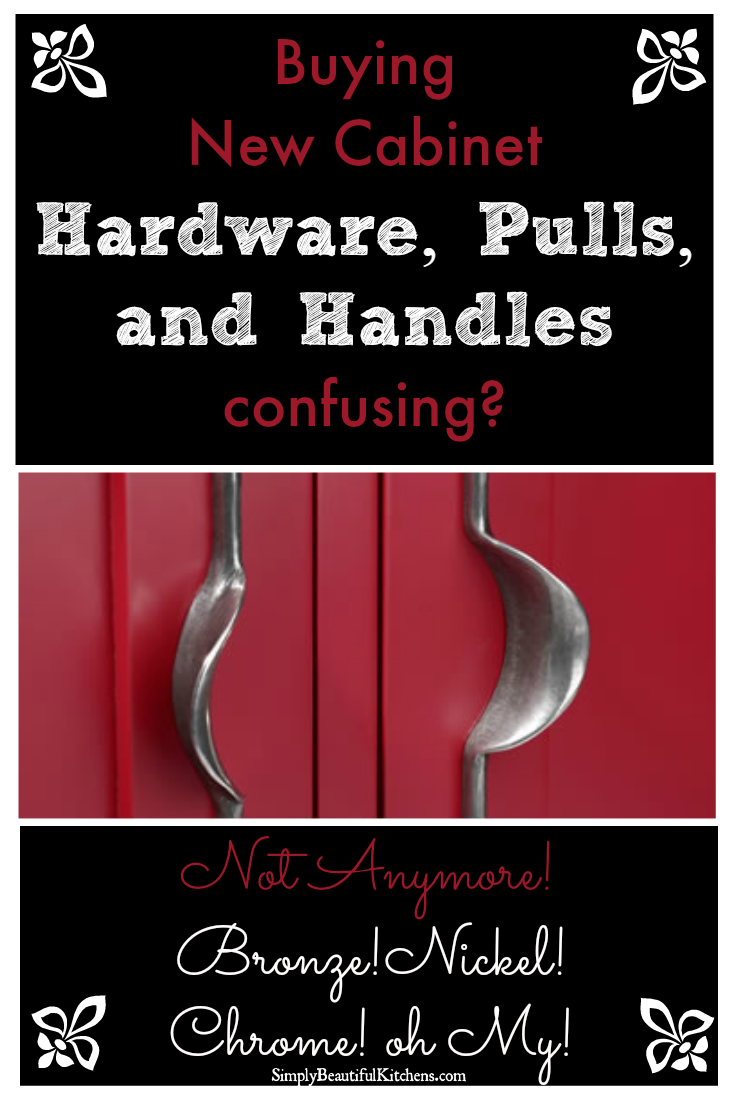Cabinet Hardware, Pulls, Handles - Break it Down!