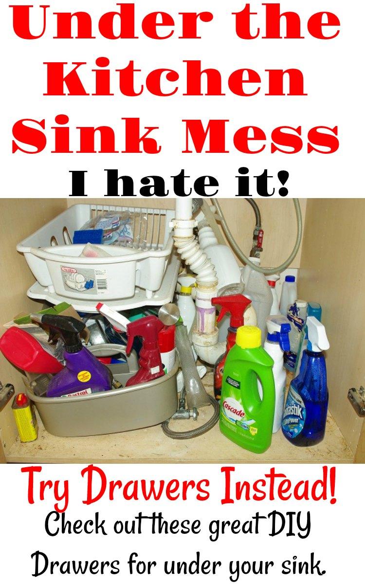 Best Way to Organize Under Kitchen Sink - DRAWERS!