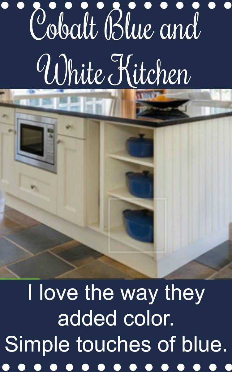 Cobalt Blue and White Kitchen
