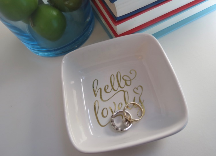 Kitchen Cricut Ring Dish